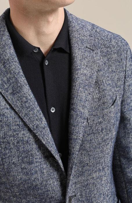 Single-breasted jacket in herringbone wool , Montedoro | Slowear