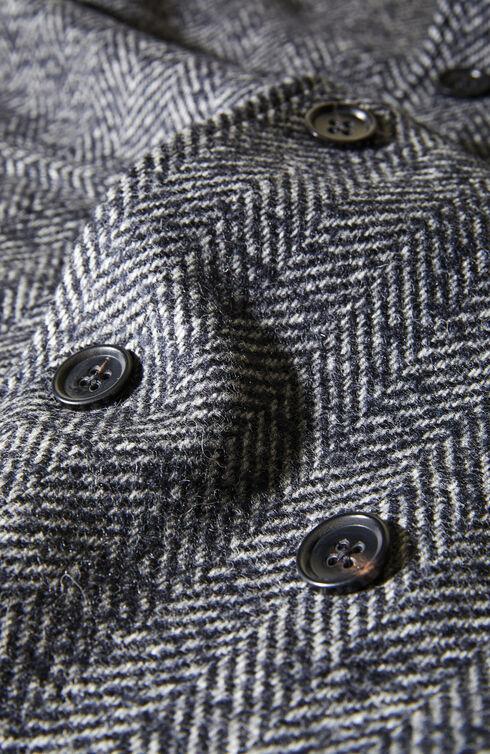 Double-breasted Shetland wool coat , Montedoro | Slowear