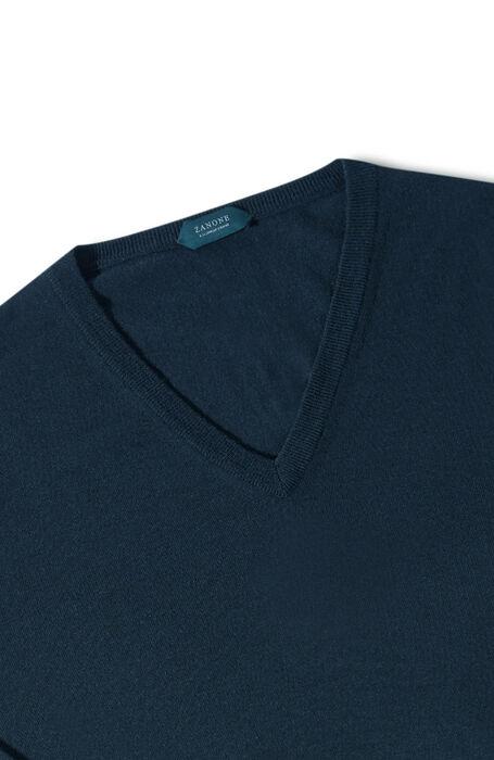 Blue Flexwool V-neck sweater , ZANONE Flexwool | Slowear