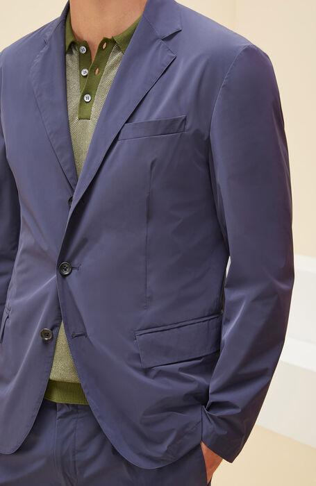 Lightweight packable Blazer in Blue Technical fabric , Montedoro | Slowear