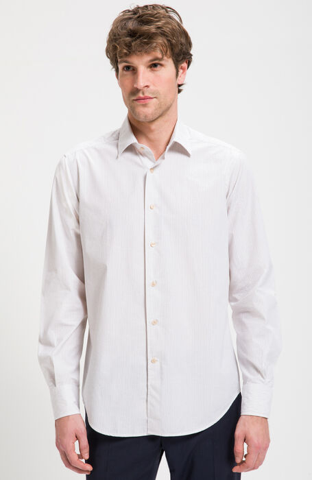 Regular Fit Cotton and Silk Shirt with Classic Collar , Glanshirt | Slowear