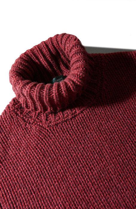 Red degradé effect merino wool and yak turtleneck sweater , Zanone | Slowear