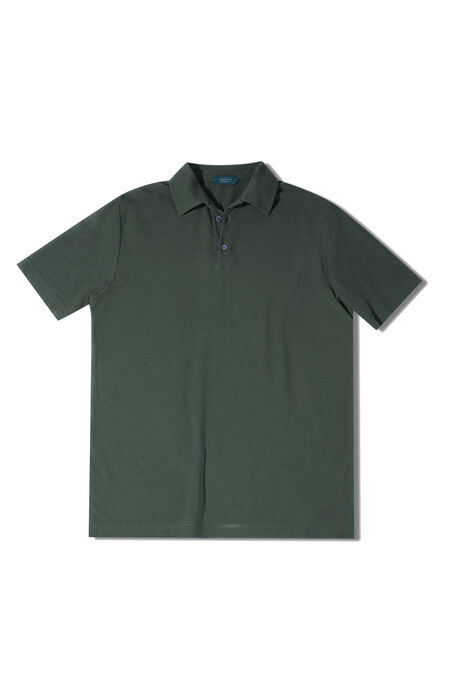 Green short-sleeved Ice Cotton polo shirt , ZANONE Icecotton | Slowear