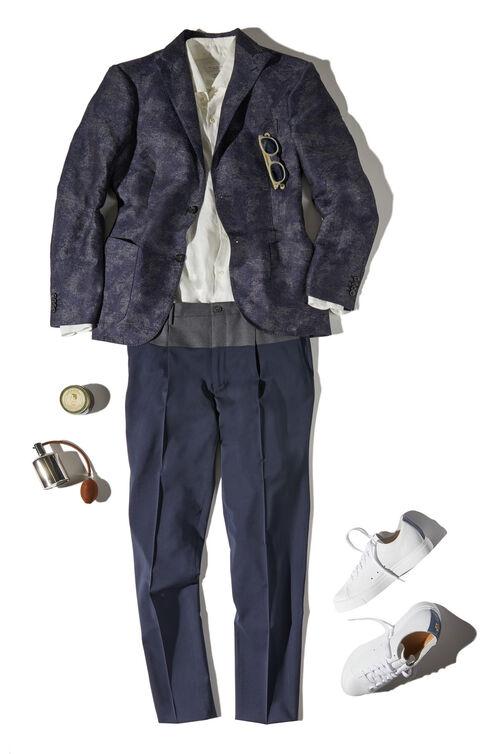 Slim-fit linen shirt with French collar , Glanshirt | Slowear