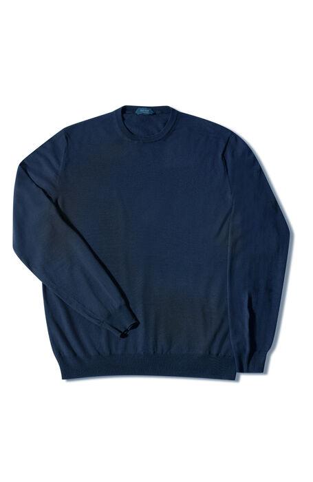 Blue Flexwool crewneck sweater , Zanone | Slowear