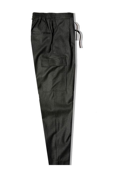 Carrot fit dark green flannel trousers with drawstring , Incotex - Venezia 1951 | Slowear