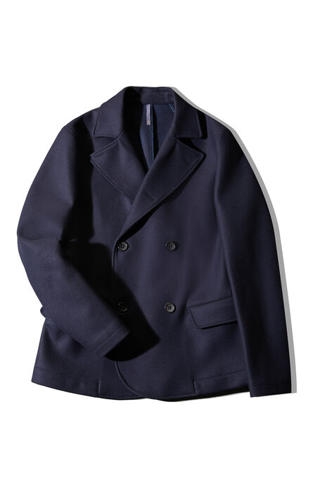 Short double-breasted marine peacoat , Montedoro | Slowear