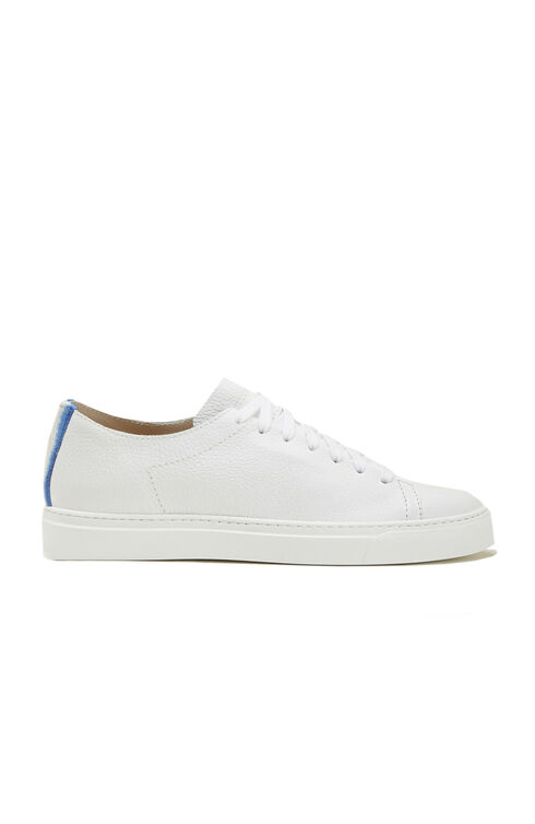 Trainers in grained calf leather with blue degradé detail , Officina Slowear   Slowear