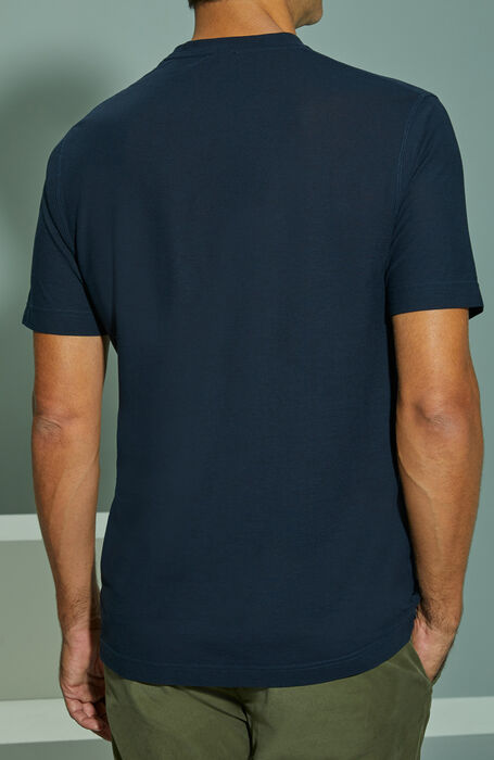 Dark blue short-sleeved Ice Cotton T-shirt , ZANONE Icecotton | Slowear