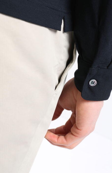 "Long-sleeved polo shirt in Zanone ""IceCotton"" , Zanone   Slowear"