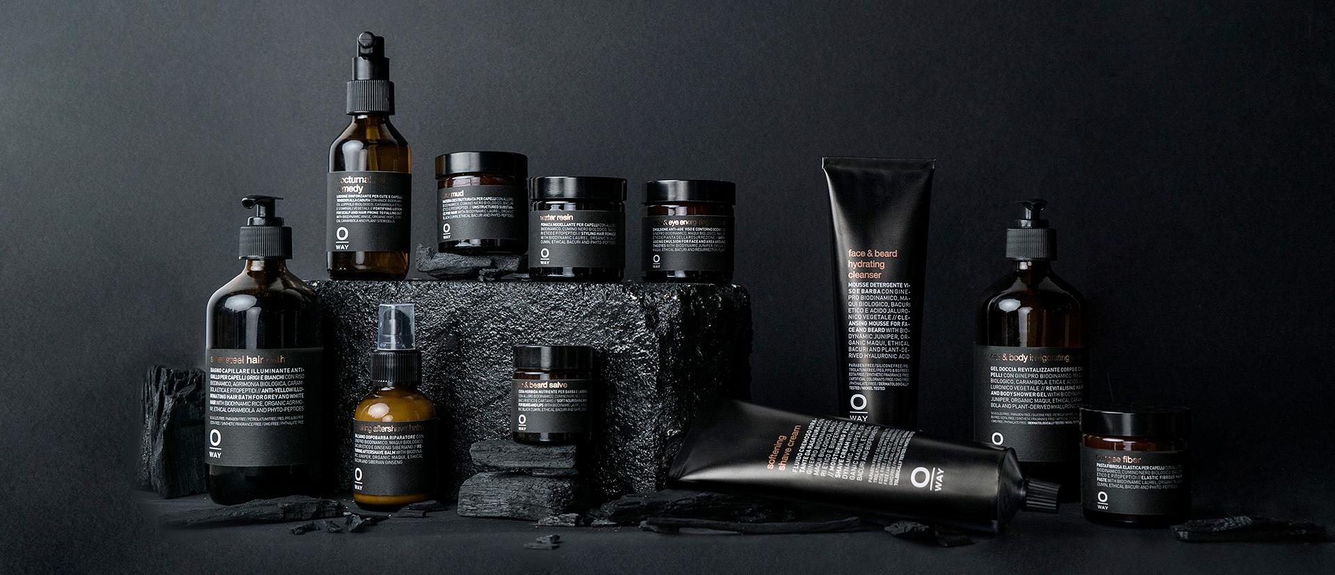 La cosmetica per uomo, ecosostenibile.